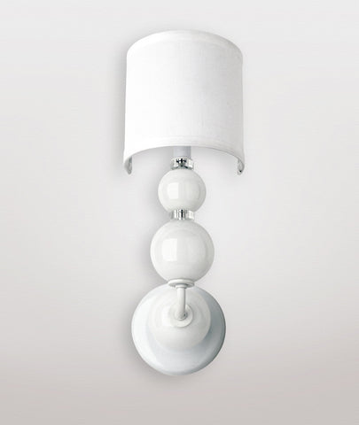 Mars white glass & Dame white linen shade