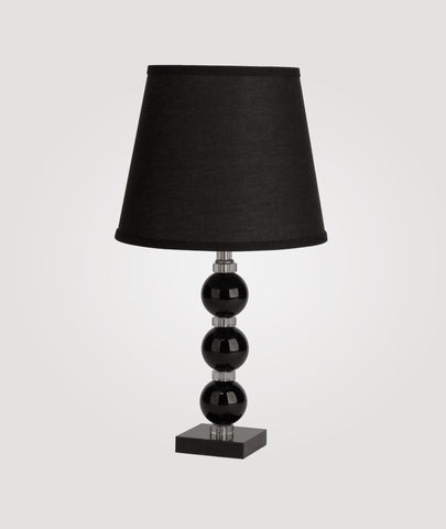 Milan Small black crystal & Countess black linen shade