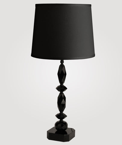 Paris Tall black crystal & Countess black linen shade