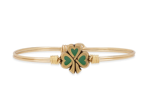 Luca+Danni Lucky Shamrock Bangle Bracelet