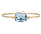 Luca+Danni Dylan Bangle Bracelet in Aquamarine