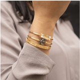 Luca+Danni Hudson Bangle Bracelet in Champagne