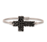 Luca+Danni Ornate Cross Bangle Bracelet
