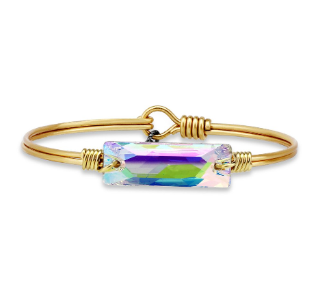 Luca+Danni Hudson Bangle Bracelet in Crystal AB