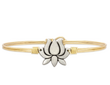 Luca+Danni Lotus Flower Bangle Bracelet