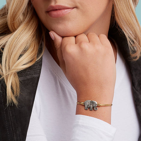 Luca+Danni Small Elephant Bangle Bracelet