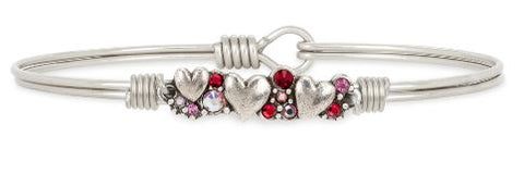 Luca+Danni Hearts Medley Bangle Bracelet