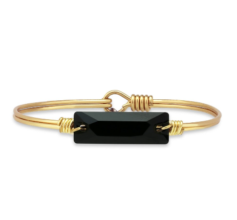 Luca+Danni Hudson Bangle Bracelet in Jet