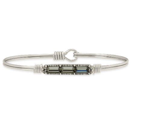 Luca+Danni Mini Hudson Bangle Bracelet in Black Diamond