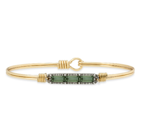 Luca+Danni Mini Hudson Bangle Bracelet in Pine