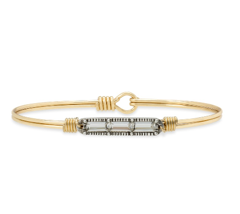 Luca+Danni Mini Hudson Bangle Bracelet in Crystal