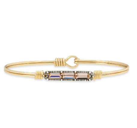 Luca+Danni Mini Hudson Bangle Bracelet in Peach
