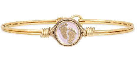 Luca+Danni Little Footsteps Pink Bangle Bracelet