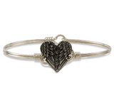 Luca and Danni Angel Wing Heart Bangle Bracelet