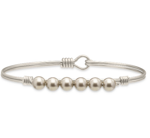 Luca+Danni Platinum Pearl Bangle Bracelet