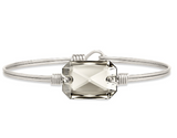 Luca+Danni Dylan Bangle Bracelet in Silver Shade