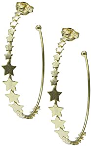Sheila Fajl Small Corona Star Hoop Earrings