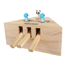 Whack-A-Mole Wooden Cat Toy