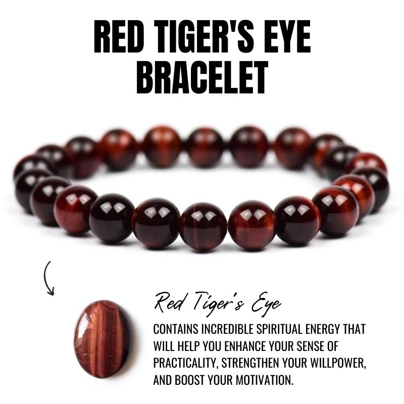 Red Tiger's Eye Bracelet