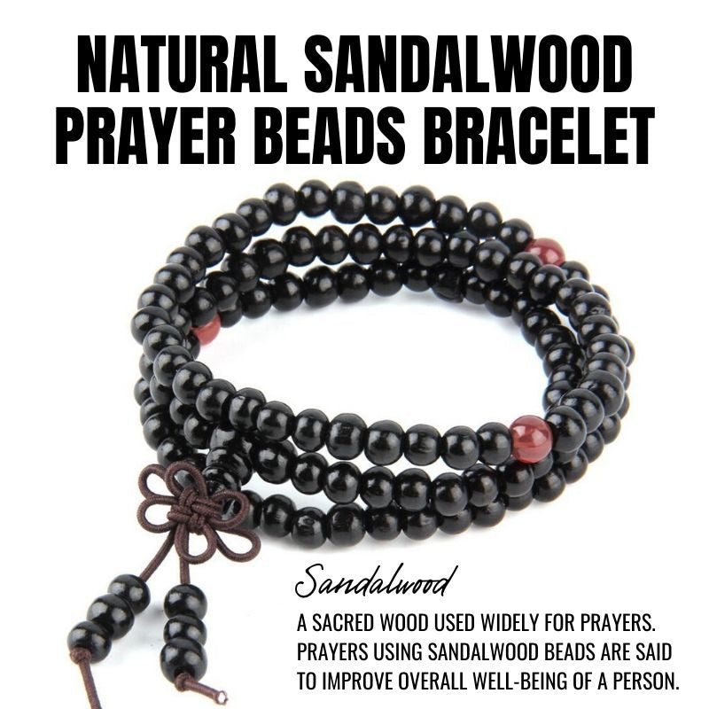 Natural Sandalwood Prayer Beads