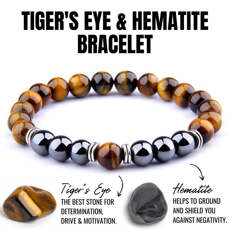Tiger's Eye & Hematite Bracelet - Blissbury.co