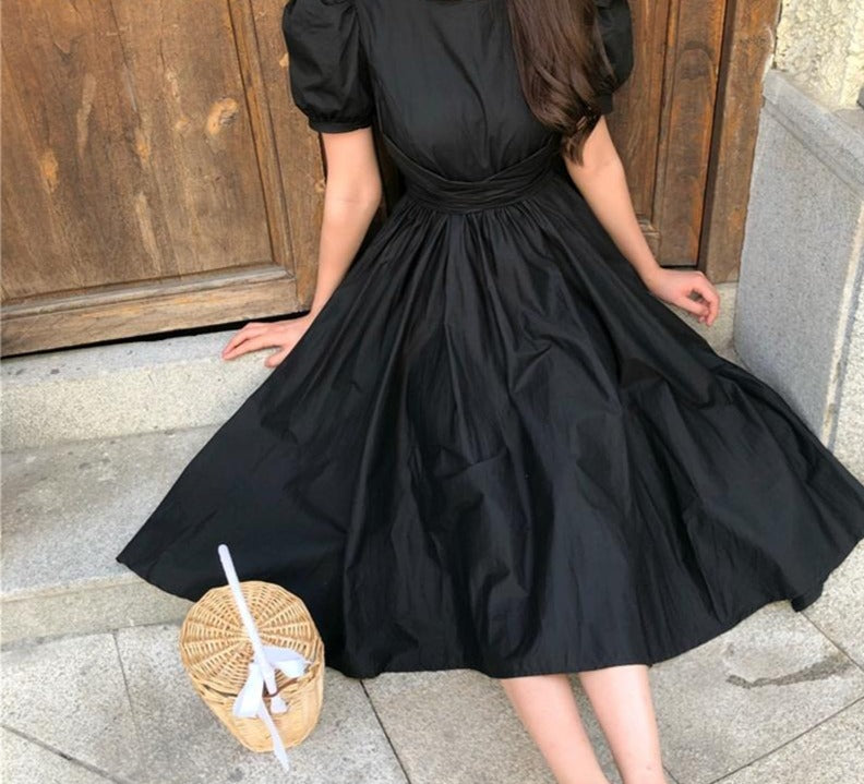 Big Bow Women Party Dress Fashion Solid Short Sleeve Long Maxi Party D Shop New Look