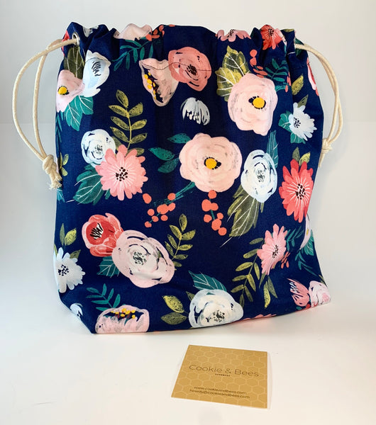 In Full Bloom Large Drawstring Bag | Cookie and Bees