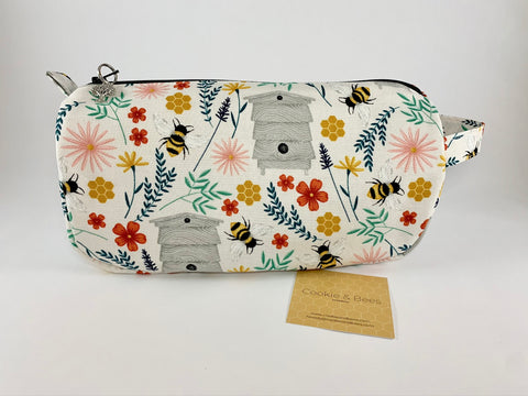 Save the Bees Small Project Bag| Cookie and Bees