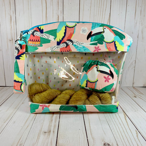 Macaw Medium Window Bag | Cookie and Bees
