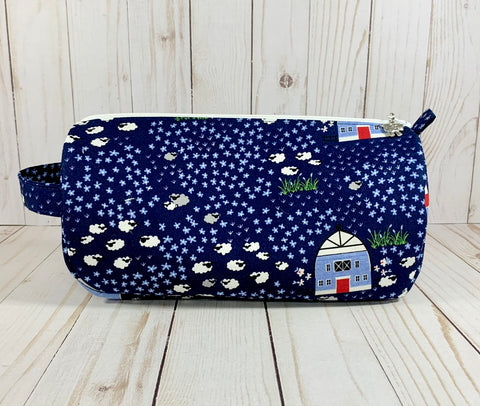Sheep Farm Small Project Bag | Cookie and Bees