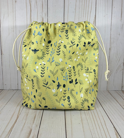 Honeycomb Large Drawstring Bag | Cookie and Bees