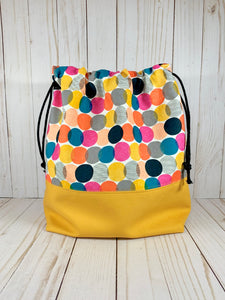 Bubble Dot Large Drawstring Bag | Cookie and Bees