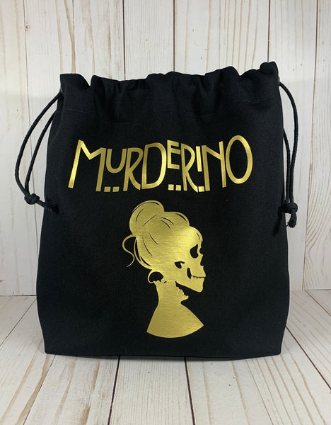 Murderino Large Drawstring Bag | Cookie and Bees