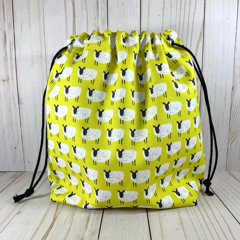 Baa Large Drawstring Bag | Cookie and Bees