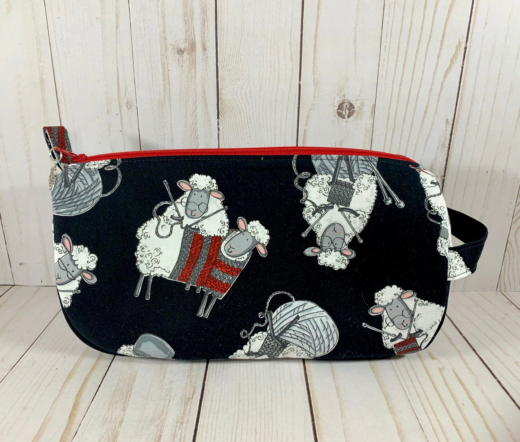 Knitting Sheep Small Project Bag | Cookie and Bees