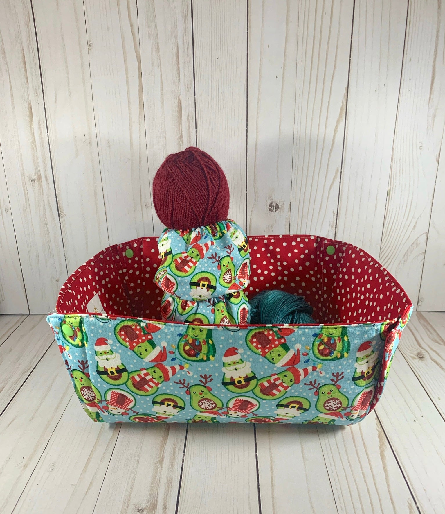 Ho Ho Cado Yarn Box | Cookie and Bees