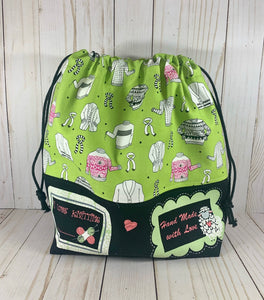 Made With Love Large Drawstring Bag | Cookie and Bees