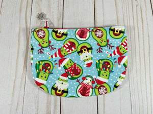 Ho Ho Cado Circle Notions Pouch | Cookie and Bees