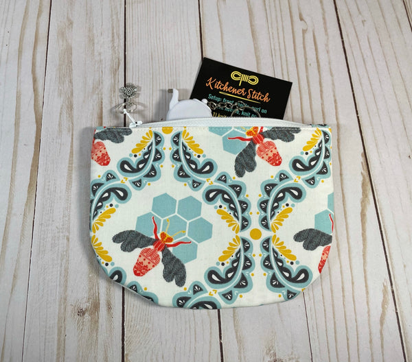 Sweet as Honey Circle Notions Pouch | Cookie and Bees