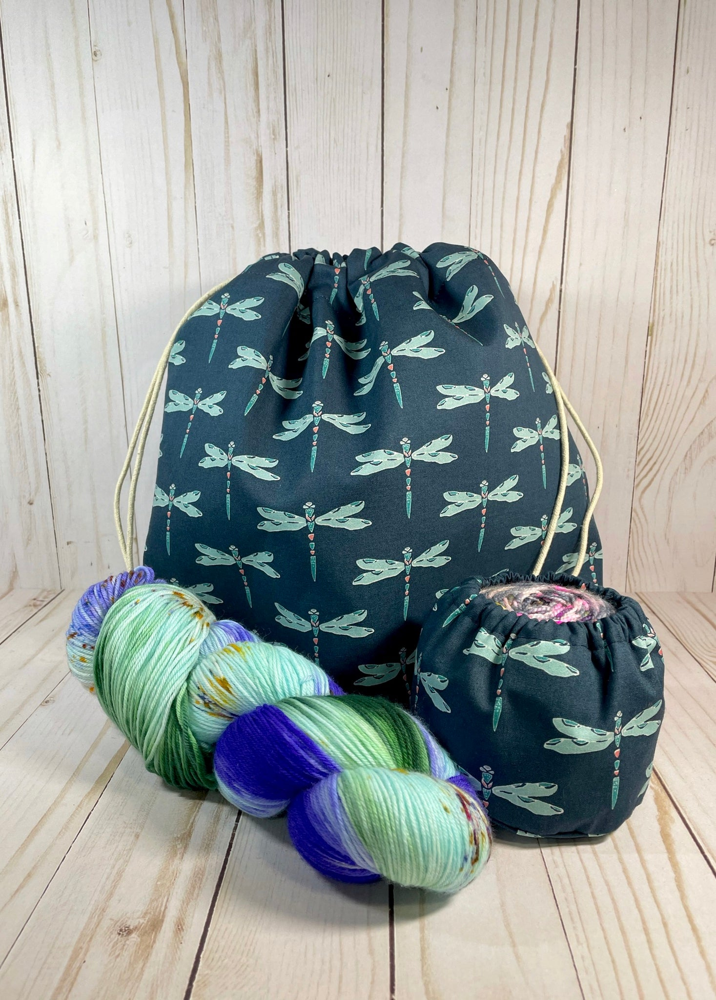 Dragonfly Large Drawstring Bag | Cookie and Bees