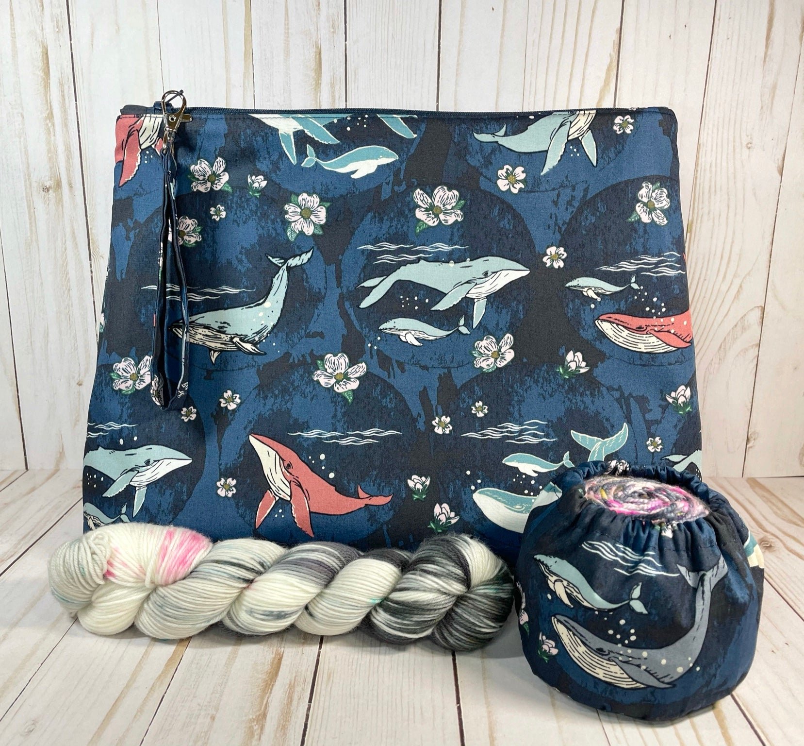 Deep Sea Medium Zipper Bag  | Cookie and Bees