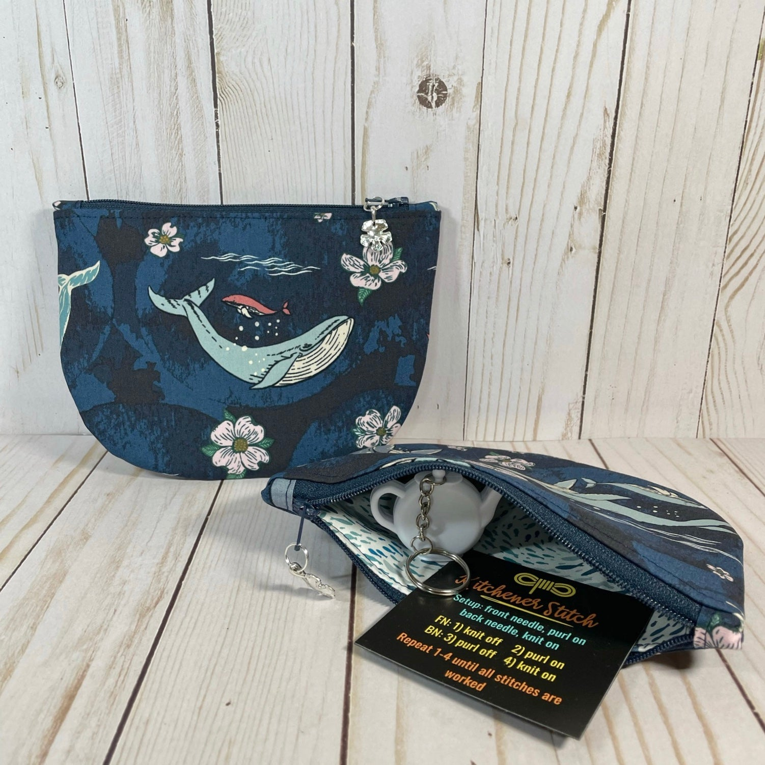 Deep Sea Circle Notions Pouch | Cookie and Bees