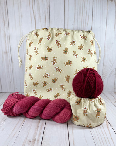 Gumdrop Button Large Drawstring Bag | Cookie and Bees
