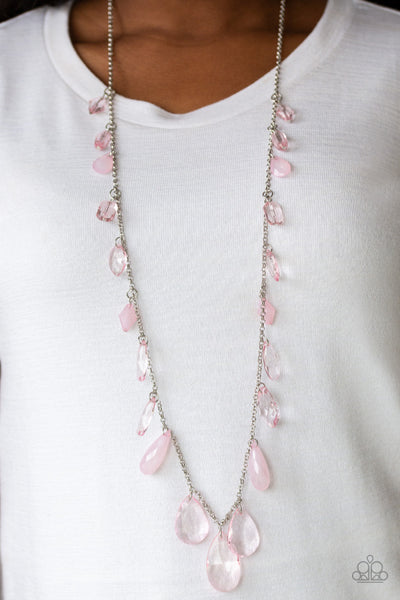 GLOW And Steady Wins The Race-Women's Necklaces-Paparazzi-Mel's Bling Galore