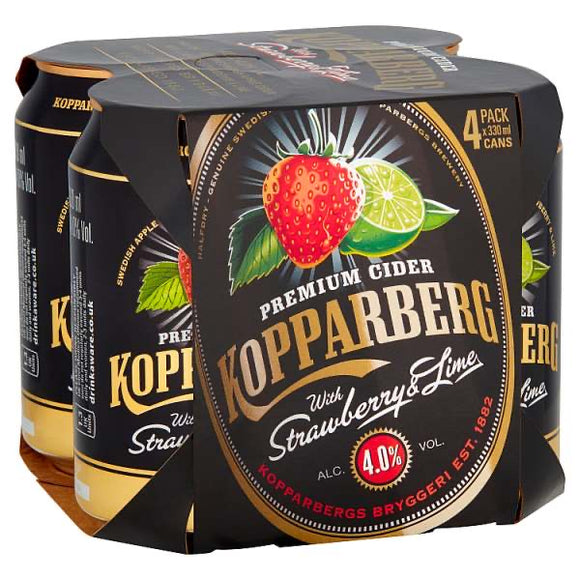 Kopparberg Premium Cider with Strawberry & Lime 330ml