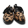 Mare 1980s Leopard Printed Pony Skin Oxfords