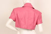 Michoel Schoeler 1980s Pink Leather Cropped Jacket