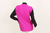 John Paul Gaultier 1980s Rare Mirrored Fuschia Mock Neck Top