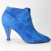 Claude Montana for Stephane Kelian 1980s Electric Blue Suede Ankle Boots