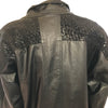 1980s Oversized Black Leather Coat with Snake Embossing Detail